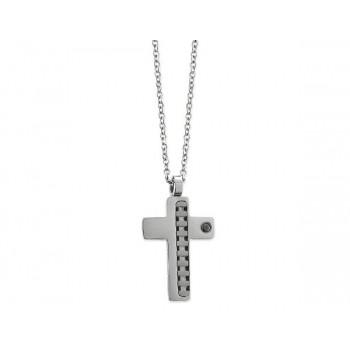 Colgante cruz acero - 86CD079