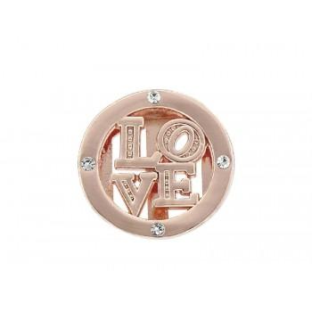 Charm alloy y circonitas LOVE - LM28-R