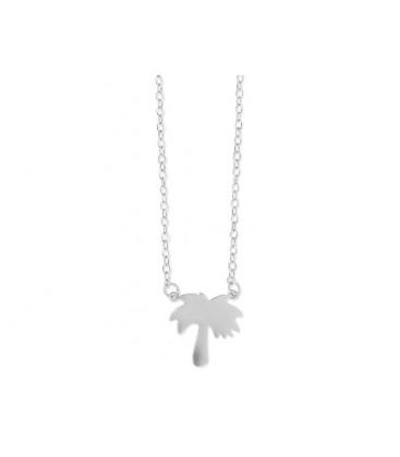 Colgante palmera plata y circonitas - LAD4292CL