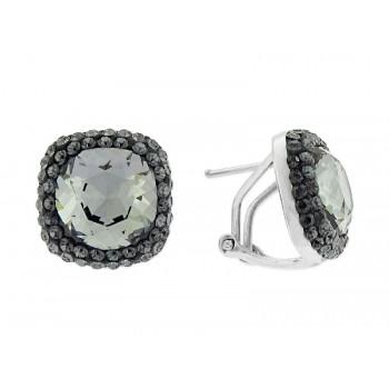 Pendientes plata y cristales Swarovski® - LSW1105A-N
