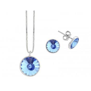 Conjunto plata y cristales Swarovski® - LSW3101C-LS