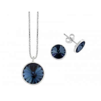Conjunto plata y cristales Swarovski® - LSW3101C-M
