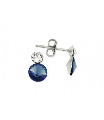 Pendientes plata y cristales Swarovski® - LSW2240A-M