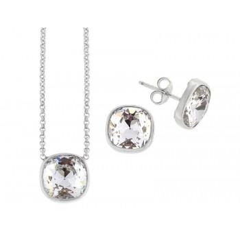 Conjunto plata y cristales Swarovski® - LSW4040C-B