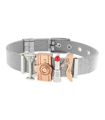 Pulsera moments acero y alloy - LMBR26