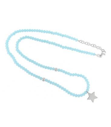 Collar espinela y estrella plata - LAF2092CL-A