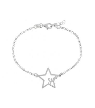 Pulsera estrella plata - LAD6042BR