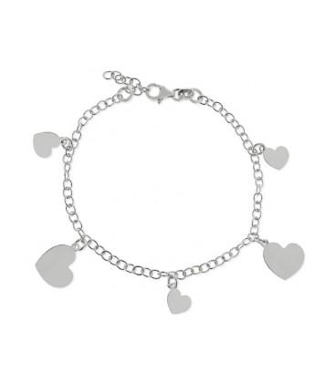Pulsera corazones plata - LAT1011BR