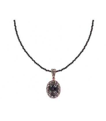 Collar espinela, plata y Swarovski® - LSW1129CL-N