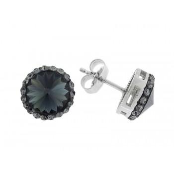 Pendientes plata y cristales Swarovski® - LSW1128A-N