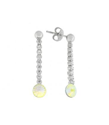 Pendientes plata y cristales Swarovski® - LSW3126A-AB