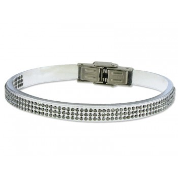 Pulsera piel made with swarovski element - 84SW04-1