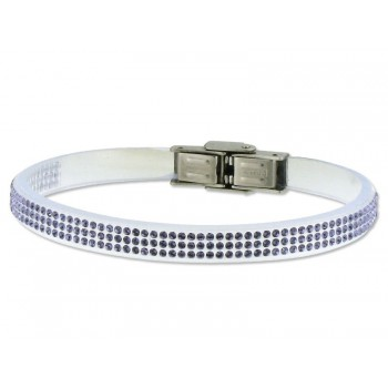 Pulsera piel made with swarovski element - 84SW04-10