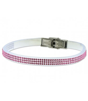 Pulsera piel made with swarovski element - 84SW04-21