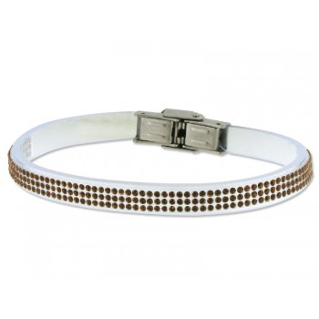 Pulsera piel made with swarovski element - 84SW04-8