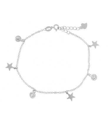 Pulsera estrella plata y circonitas - LAD4270BR