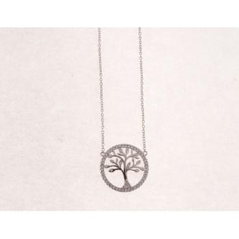 Colgante árbol vida plata y circonitas - LAD4361CL