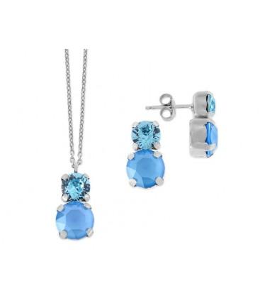Conjunto plata y cristales Swarovski® - LSW2397C-A