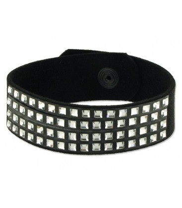 Pulsera piel made with swarovski element - 84SW14-B