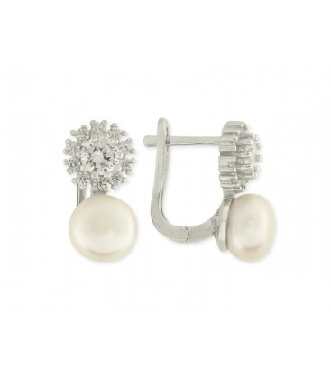 Pendientes plata, perlas y circonitas - LAD2182A