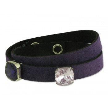 PULSERA PLATA MADE WITH SWAROV - LSW031BR-PVV