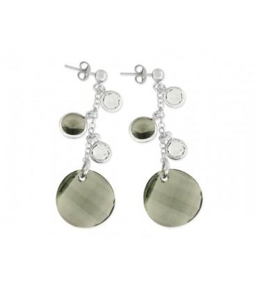Pendientes plata y cristales Swarovski® - LSW2297A