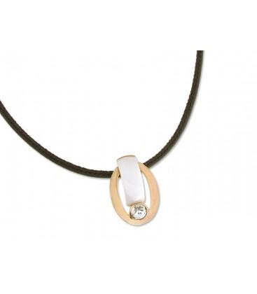 Collar plata, cerámica y cristales Swaro - LSW3009CL