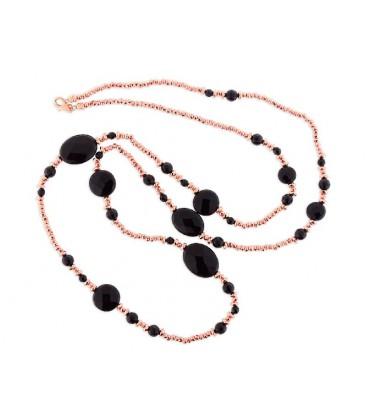 Collar plata hematites y piedra naturale - LP1014CL