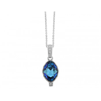 Colgante plata y cristales Swarovski® - LSW094CL-A