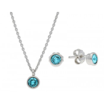 Conjunto plata y cristales Swarovski® - LSW3166C-T