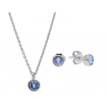 Conjunto plata y cristales Swarovski® - LSW3166C-A