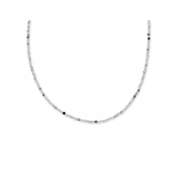 Collar plata y piedras nat multicolor - LAD8122CL