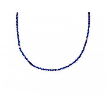 Collar plata y piedras nat multicolor - LAD8124CL