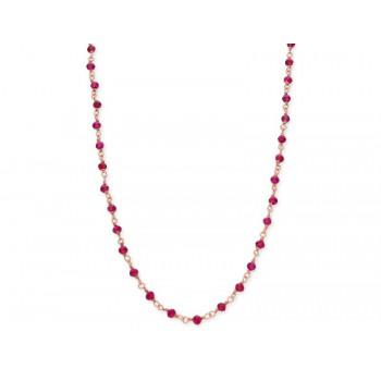 Collar plata y piedras naturales - LAD8125CL