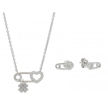 Conjunto plata y circonitas - LAD8083C