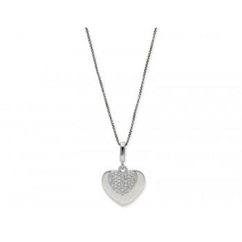 Colgante corazón plata y circonitas  - LAD4439CL