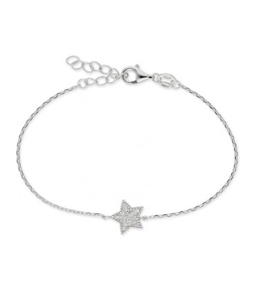 Pulsera estrella plata y circonitas - LAD8104BR-B