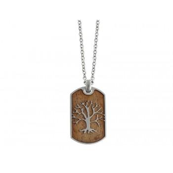 Colgante árbol vida acero y madera - NAT022CD