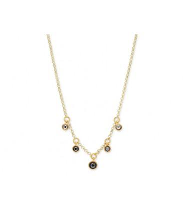 Collar plata y cristales Swarovski® - LSW0106CL-D