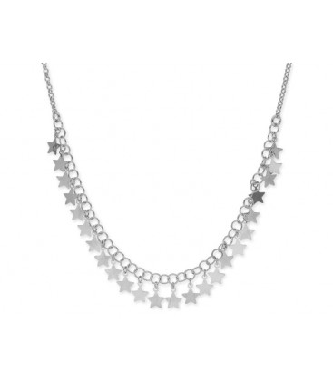 Collar estrellas plata - LAF6129CL