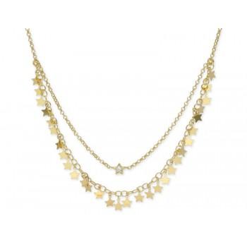 Collar estrellas plata  - LAF6138CL-D