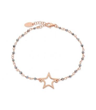 Pulsera estrella plata y piedras - LAF2130BR-RG