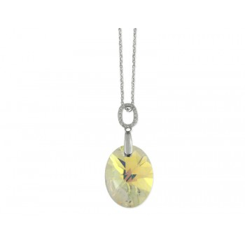 Colgante plata y cristales Swarovski® - LSW078CL-AB
