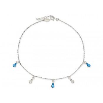 Tobillera plata y cristales Swarovski® - LSW3193TB-A