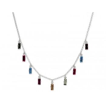 Collar plata y cristales Swarovski® - LSW4262CL