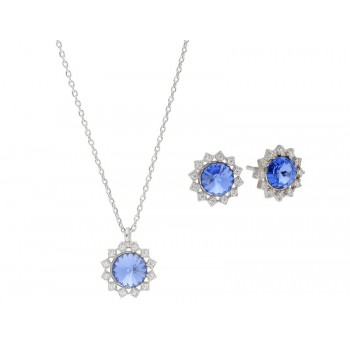 Conjunto plata y cristales Swarovski® - LSW3186C-A
