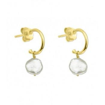 Pendientes plata y perlas - MED001A-D