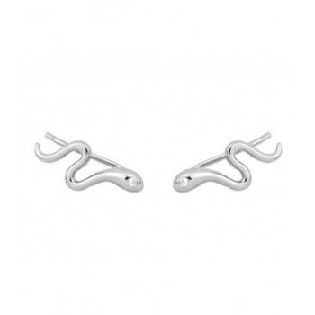 Pendientes serpientes plata y circonitas - MED046A