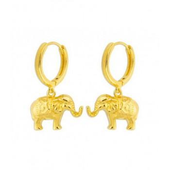 Pendientes plata elefantes - MED062A-D
