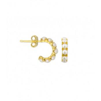 Pendientes plata y perlas - MED097A-D